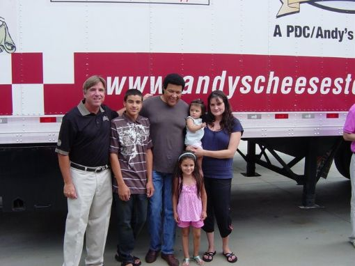 My Day at Andy's delivering The Checkerbar For Charity