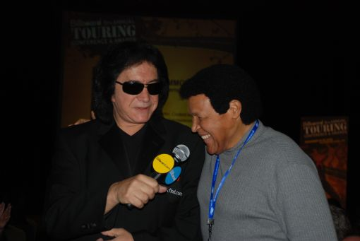 Chubby with Gene Simmons
