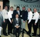 Chubby with Mark Tedesco & other bus owners at the Motor Coach Show